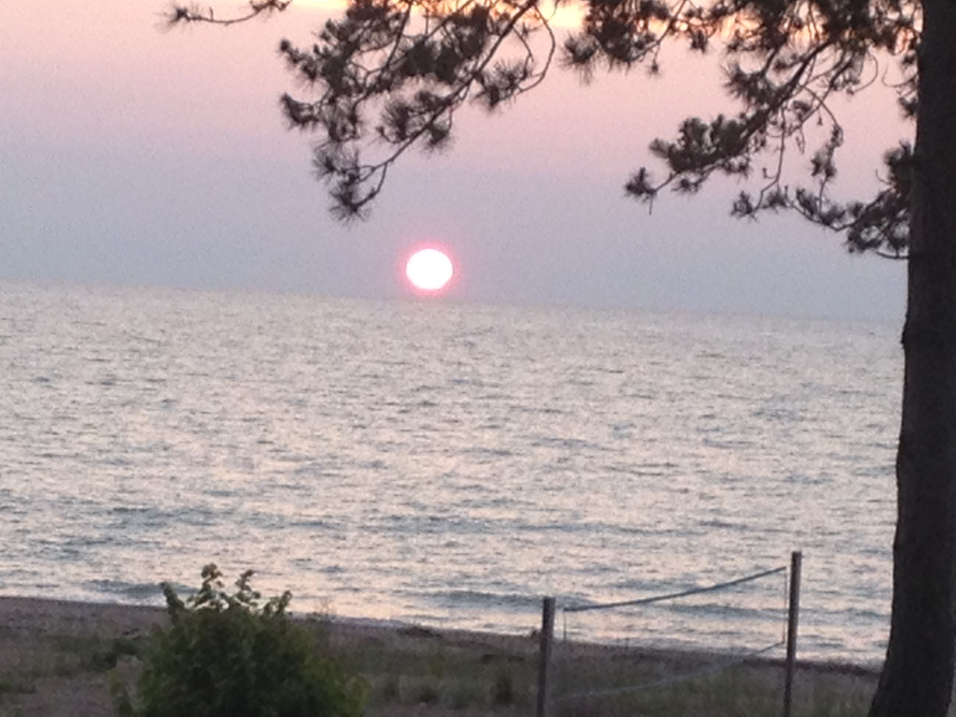 sunrise on lake huron
