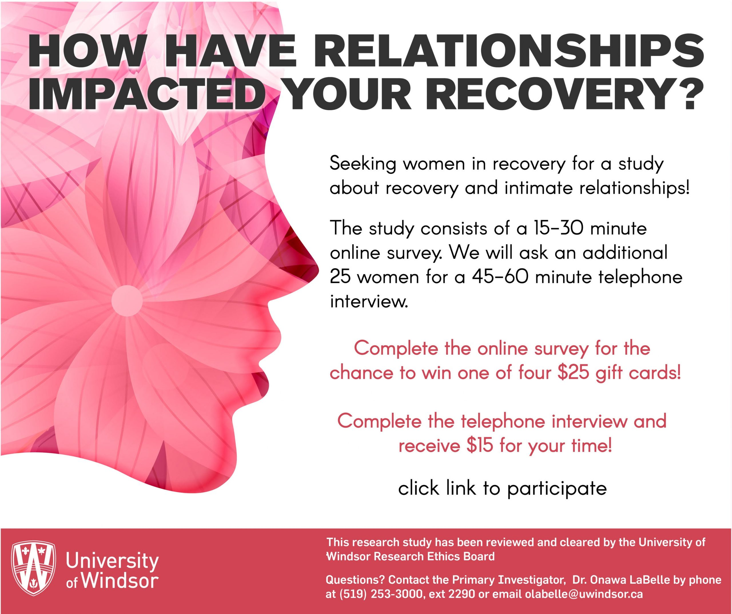 Recovery and Relationships flyer